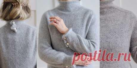 Пуловер из мохера сверху Augustine - Вяжи.ру
