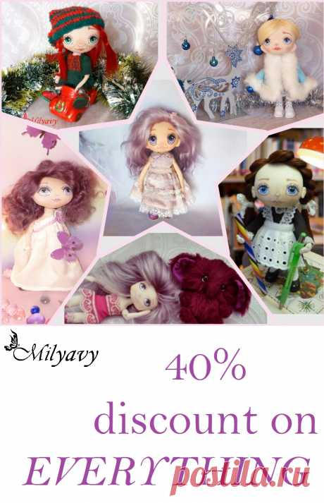 40% discount on EVERYTHING in my shop