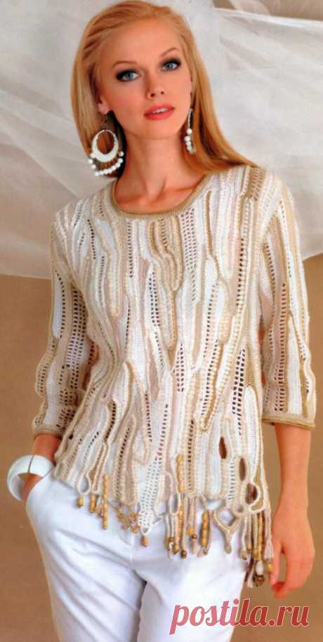 """Fashionable women's jumpers: 3 master classes. A men's jumper - MK\"""" the Female World"""