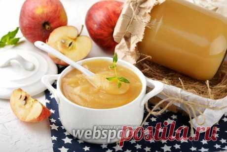 Яблочное пюре в мультиварке рецепт с фото, как приготовить на Webspoon.ru