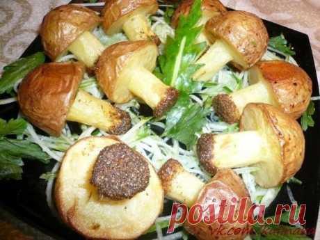 Грибочки из картофеля. Этот чудесный гарнир будет украшением основного блюда!