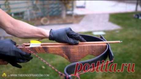 Простой арбалет из дерева и ПВХ-труб