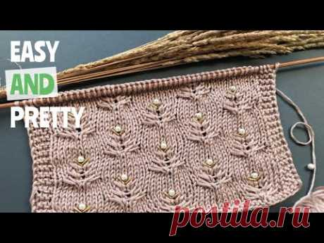 🍒Шикарный легкий узор🍒спицами для вязания топа/туники🍒Beautiful knitting pattern for tunic/cardigan