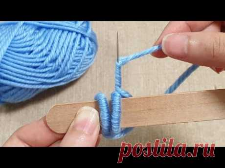 Amazing Woolen Flower Craft Ideas with Stick - Hand Embroidery Design - Sewing Hack - Easy Trick