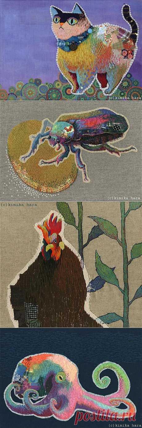 Вышивка пэчворк животных Kimika Hara (трафик) / Вышивка /