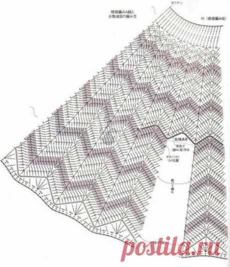 Схемы вязания юбок