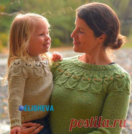 Вязаный пуловер «Совы» по методике Кейт Дэвис