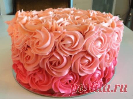 Крем для розочек на торт - Как сделать розу из крема для торта рецепт который получается всегда: как делать для начинающих с розами из крема