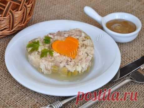 Заливное из курицы   Кулинарные Рецепты