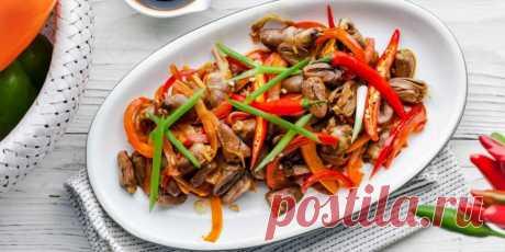 Острые куриные сердечки с перцем и луком : Мясные блюда : Кулинария : Subscribe.Ru