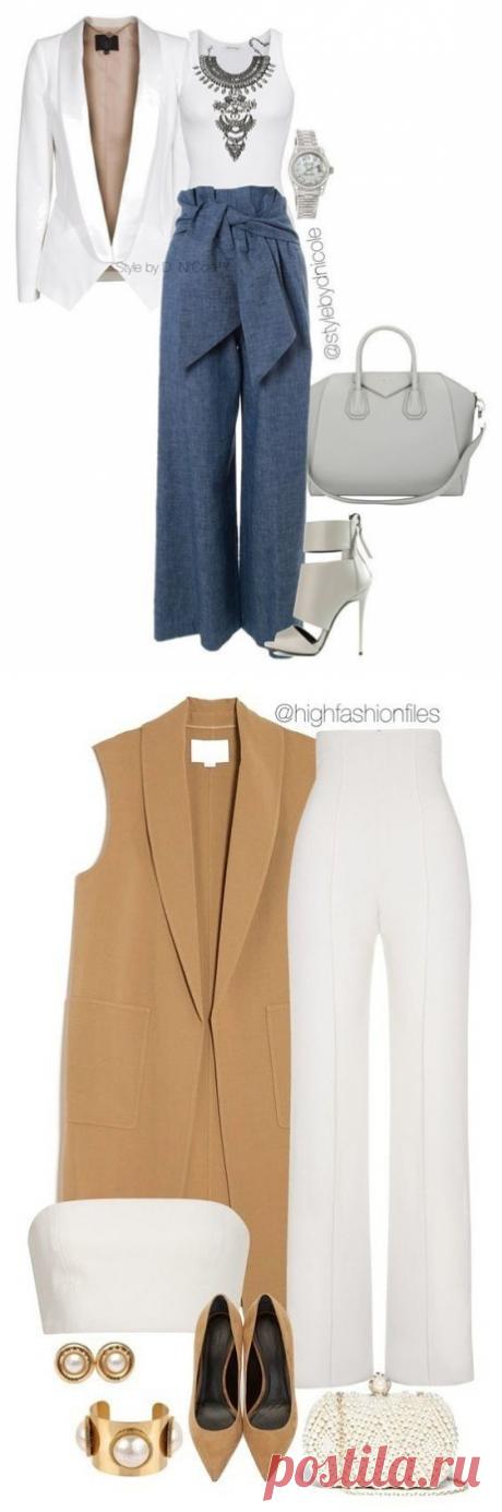 Элегантные образы с брюками — Модно / Nemodno