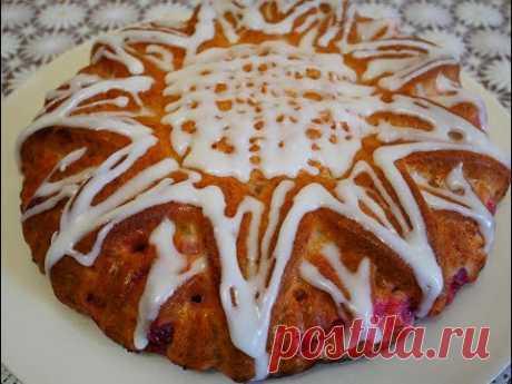 Очень ВКУСНЫЙ пирог с КРЫЖОВНИКОМ на ЙОГУРТЕ Заливной Пирог рецепт Простой ПИРОГ Pie