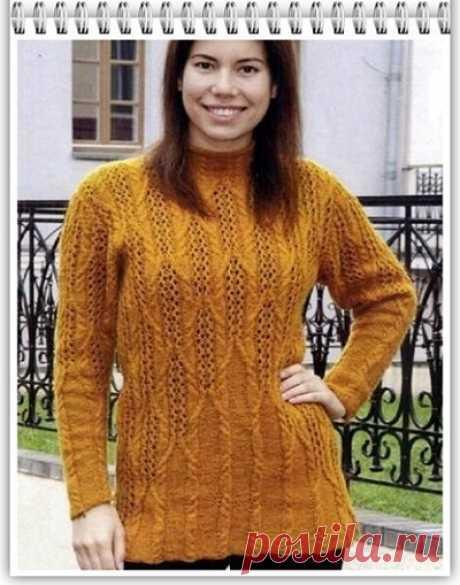 Галкин Дневник: Ажурный пуловер для полных дам