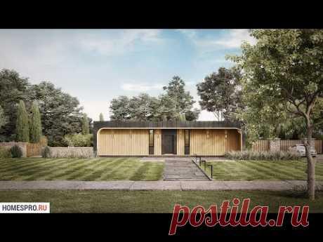Проек тодноэтажного дома с плоской крышей FLAT-002-ZV