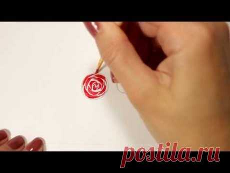 Lessons of a list of nails. We draw a rose