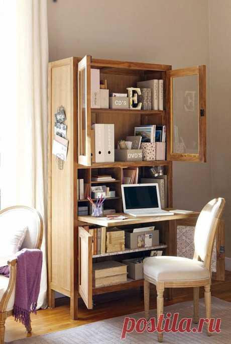 Домашний офис в шкафу — Наши дома
