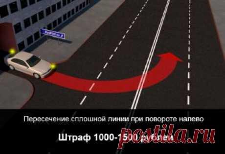Штраф за пересечение сплошной линии В каких случаях действие водителя признается пересечением сплошной. Какое наказание предусматривается законодательством. Можно ли избежать штрафных санкций.