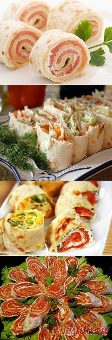 Рулеты и рулетики из лаваша: самые вкусные рецепты простой закуски