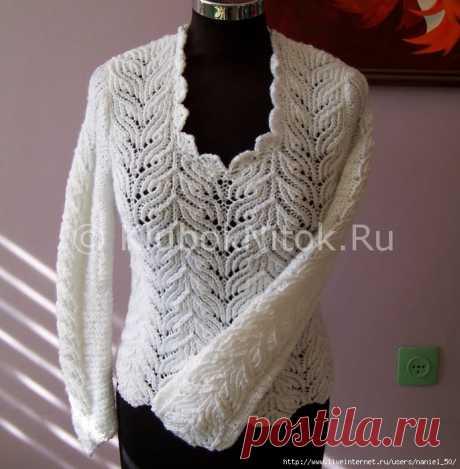 Кружевной пуловер белого цвета
