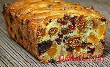 Никогда не слипнется! Кекс из сухофруктов: мало теста много ягод! Это именно кекс из сухофруктов, а не кекс с сухофруктами. В нем очень много сушеных ягод и очень мало теста. Кекс получается насыщенным, ярким, вкусным и полезным. А главное — готовится он быстро и легко.  Ингредиенты:   300−400 г смеси из орехов и сухофруктов (2 вида изюма, чернослив,курага, с