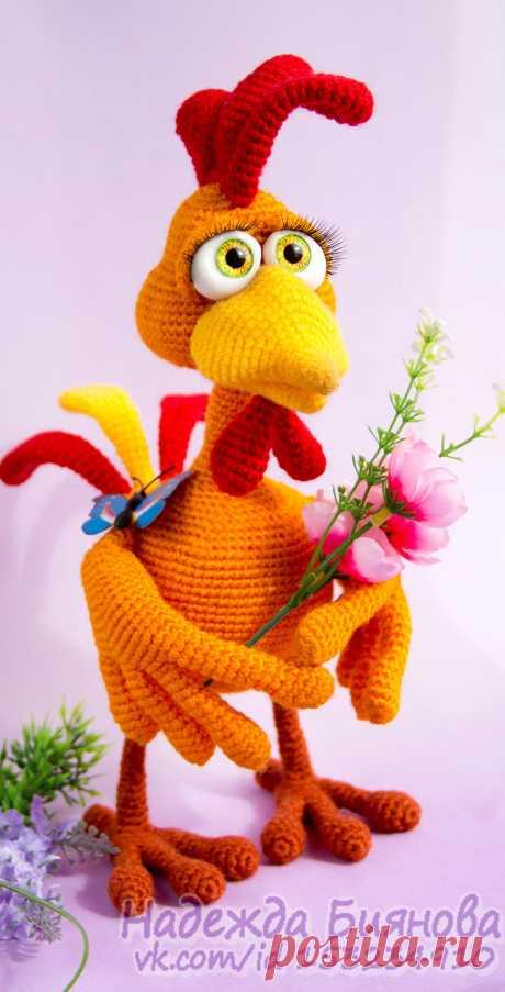 PDF Сеня Петухов крючком. FREE crochet pattern; Аmigurumi doll patterns. Амигуруми схемы и описания на русском. Вязаные игрушки и поделки своими руками #amimore - Петух, петушок.