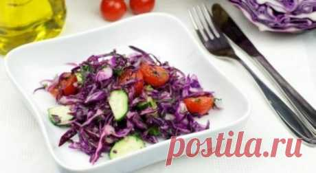 Салат из фиолетовой капусты - Retsept.net