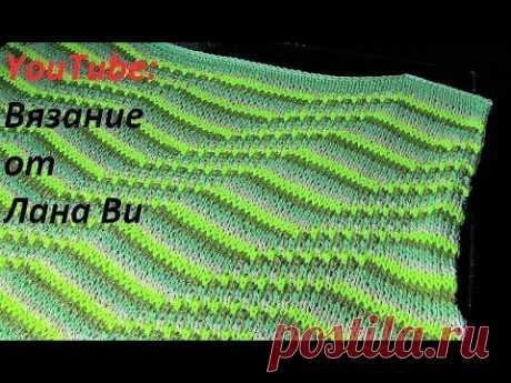 Вязание спицами: описание топа/кофточки - 2 МК. Летний топ/кофточка спицами спущенными петлями - YouTube