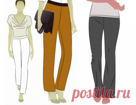Две выкройки брюк — зауженные и прямые - Все выкройки