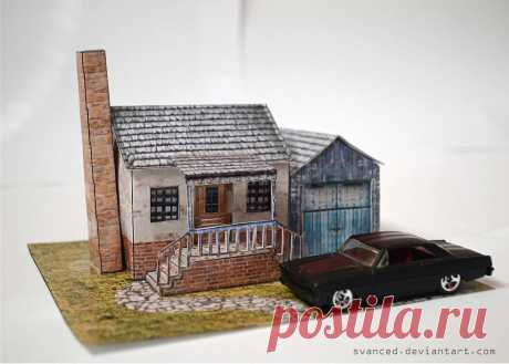 Suburbia Diorama Papercraft 2 A nice and small papercraft crafted by me. Original build/Template by: Papermau Photo1:[link] Difficulty Level:Medium Direct Download Link:[link]
