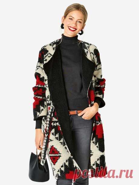 Пальто в стиле casual - выкройка № 6249 A из журнала 2/2019 Каталог Burda – выкройки пальто на Burdastyle.ru