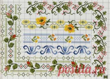 ВЫШИВКА-Подборка цветочных мотивов