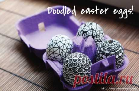 Роспись пасхальных яиц в техниках дудлинг и зентангл. Идеи, мастер-классы