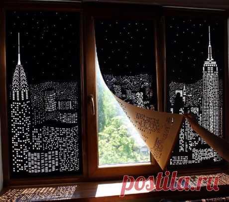 """La cortina de diseñador """"la Ciudad De noche"""""""