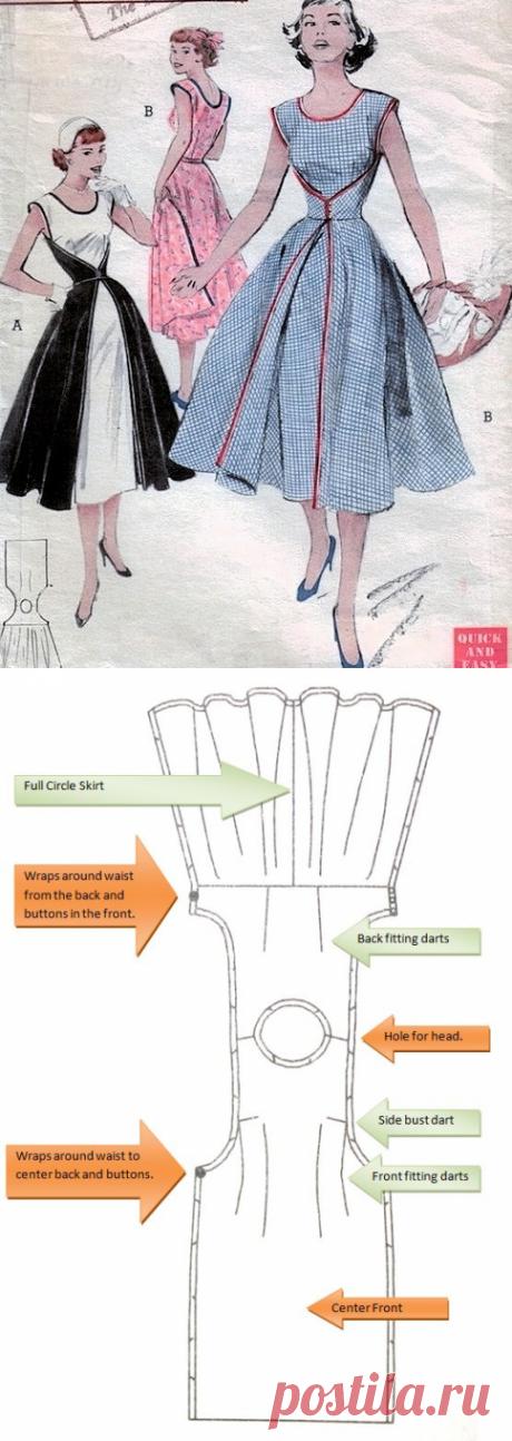 butterick 4790 и 6836- легкое платье с запахом - Нью-Лук 50-тые — LiveJournal