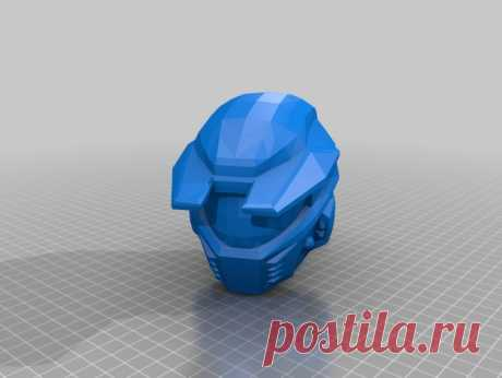 """Halo Helmet Mk4 by Jace1969 An old file from my Pepakura making days that I discovered in Pepakura Designer you can export to .OBJ and in """"Windows 10 3DBuilder or 123Design"""" export to .STL. Unfortunately I don't have the skills yet to improve further on the model, but maybe someone out there would like to tidy it up. Please upload it back as a remix if you do take the time to clean it up. Please note this was originally uploaded to the net as a free down load. So I cant ta..."""