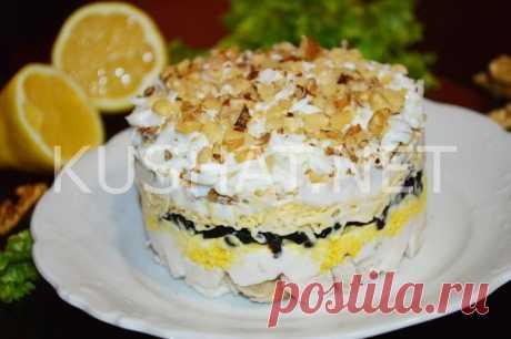 Салат с курицей, черносливом и грецкими орехами. Пошаговый рецепт с фото • Кушать нет