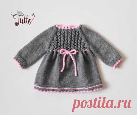 Baby girl dress winter dress merino dress knit baby dress grey | Etsy