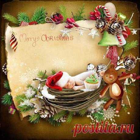 Новогодний скрап-комплект - Весёлого Рождества » ШКОЛА ПЛЮС