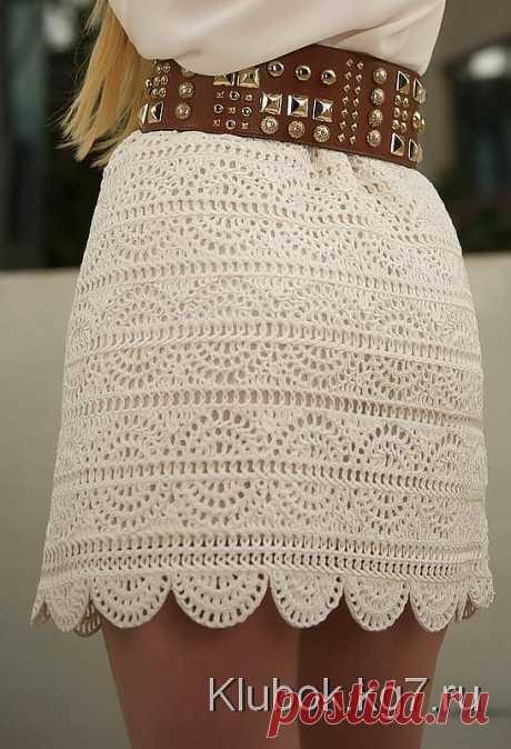 White short skirt....