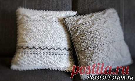 Декоративные подушки из хлопкового шнура