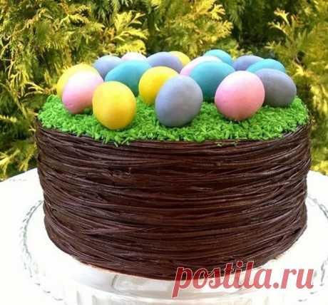 """Торт """"Пасхальное лукошко"""""""