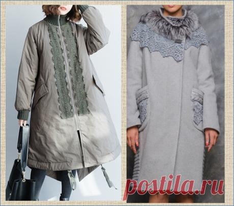 Вязание с тканью - куртки и теплые кардиганы - 50 идей комбинирования | МНЕ ИНТЕРЕСНО | Яндекс Дзен