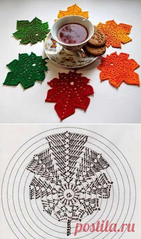 Красивые салфеточки в виде листье
