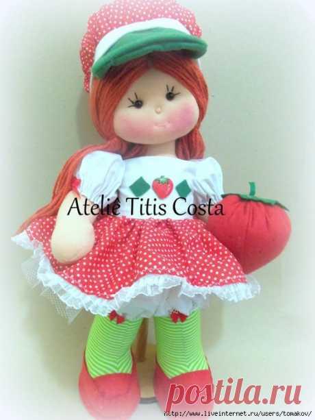 Кукла Moranguinho. Выкройка + Видео-МК