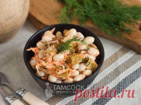 Зимний салат из фасоли с хлебом и чесноком — рецепт с фото Отличный салат! Сытный, несложный в приготовлении, все ингредиенты прекрасно сочетаются между собой. Попробуйте!