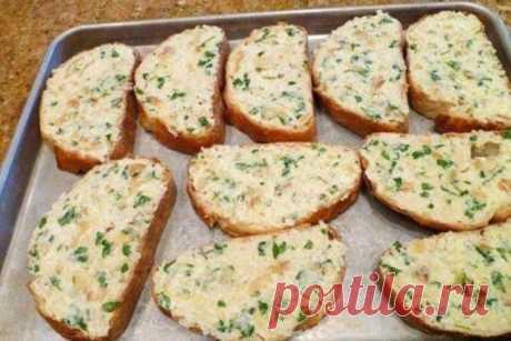 Хлеб в духовке с чесноком и маслом: простой рецепт