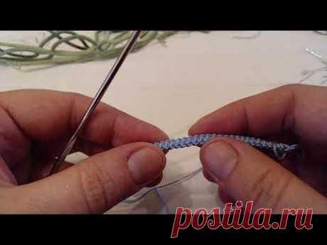 Шнур Гусеничка на 3 грани,  от YanKell, вязание, соединение, применение