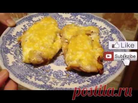 Chicken chop in an omletnitsa of Travola