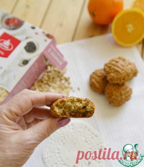 Постное апельсиновое печенье из хлопьев – кулинарный рецепт
