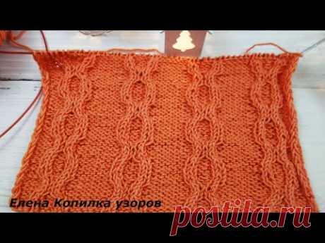 Узор спицами Жгуты Схема и Описание /Knitting pattern Harnesses Diagram and Description